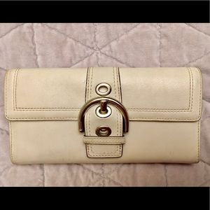 Authentic Coach Ivory Wallet - Used Condition